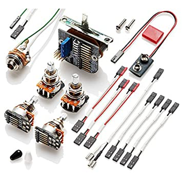 Sensational Solderless Kit 3 Pickups Amazon Co Uk Musical Instruments Wiring 101 Mentrastrewellnesstrialsorg
