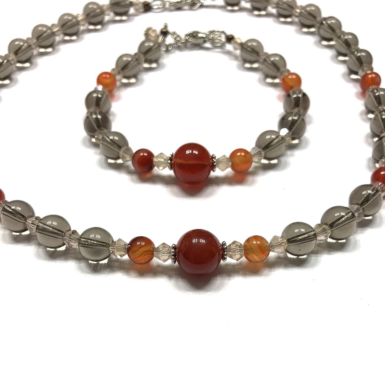 Brown Stone Bracelet Bohemian Bracelet Smokey Quartz Bracelet Gemstone Jewelry Gemstone Bracelet Smokey Quartz Jewelry Stone Bracelet