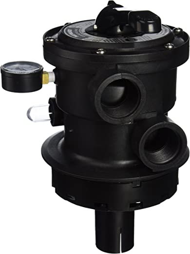 Hayward SP0714T VariFlo Top-Mount Multiport Valve, Black