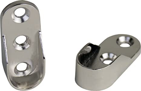 2 Stück Schrankrohrlager Schrankrohraufhänger Kleiderstangenaufhänger Metall mit
