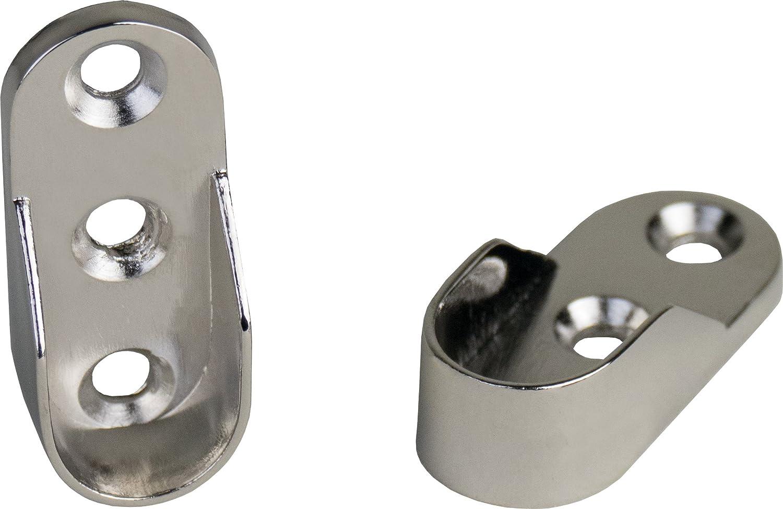 2 pieza Rodamiento de tubo de armario Colgador para tubo de ...