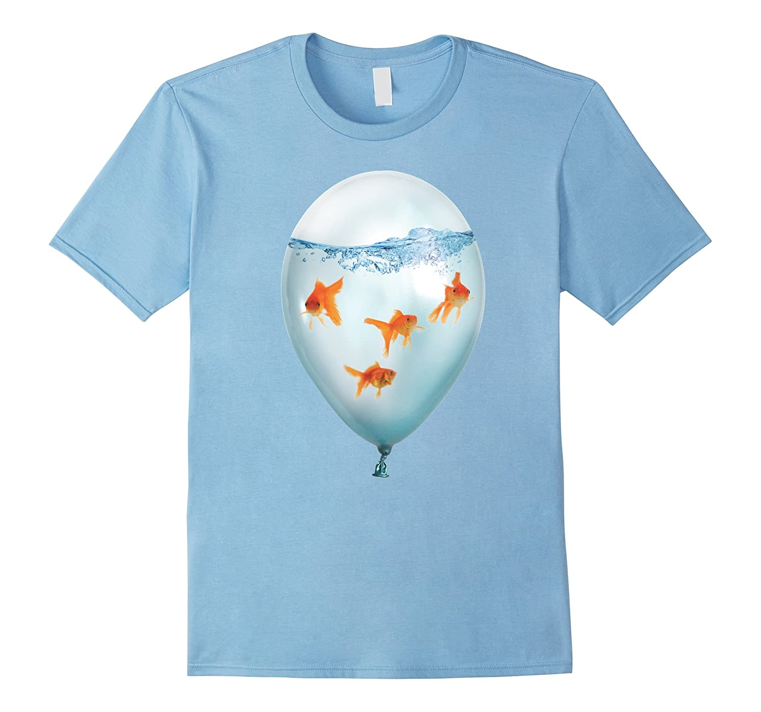 Goldfish Balloon T Shirt Bubbles Fishing By Zany Brainy Cl Colamaga