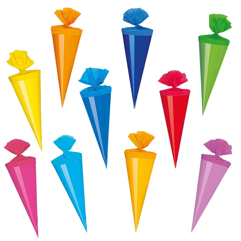 Alles-meine  GmbH 10 Stück _ Schultüten Schultüten Schultüten -  Delfin - Fische & Seestern  - 35 cm - rund - incl. individueller Schleife - mit Namen - mit Tüllabschluß - Zuckertüte - mit   ohne .. B07DNLNF7Z | Die Qualität Und Die Verbraucher Zunäch dae812