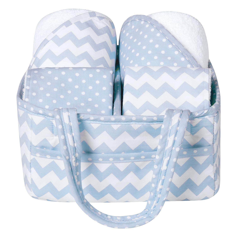 Trend Lab 5-Piece Baby Bath Gift Set, Blue Sky 102475