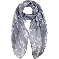 Ladies Women's Fashion Butterfly Print Long Scarves Floral Neck Scarf Shawl Wrap by DiaryLook