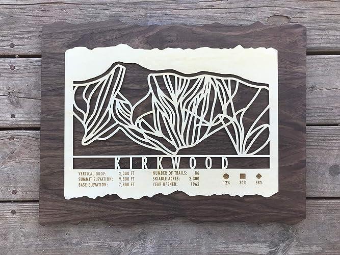 Amazon.com: Kirkwood Ski Trail Map 20