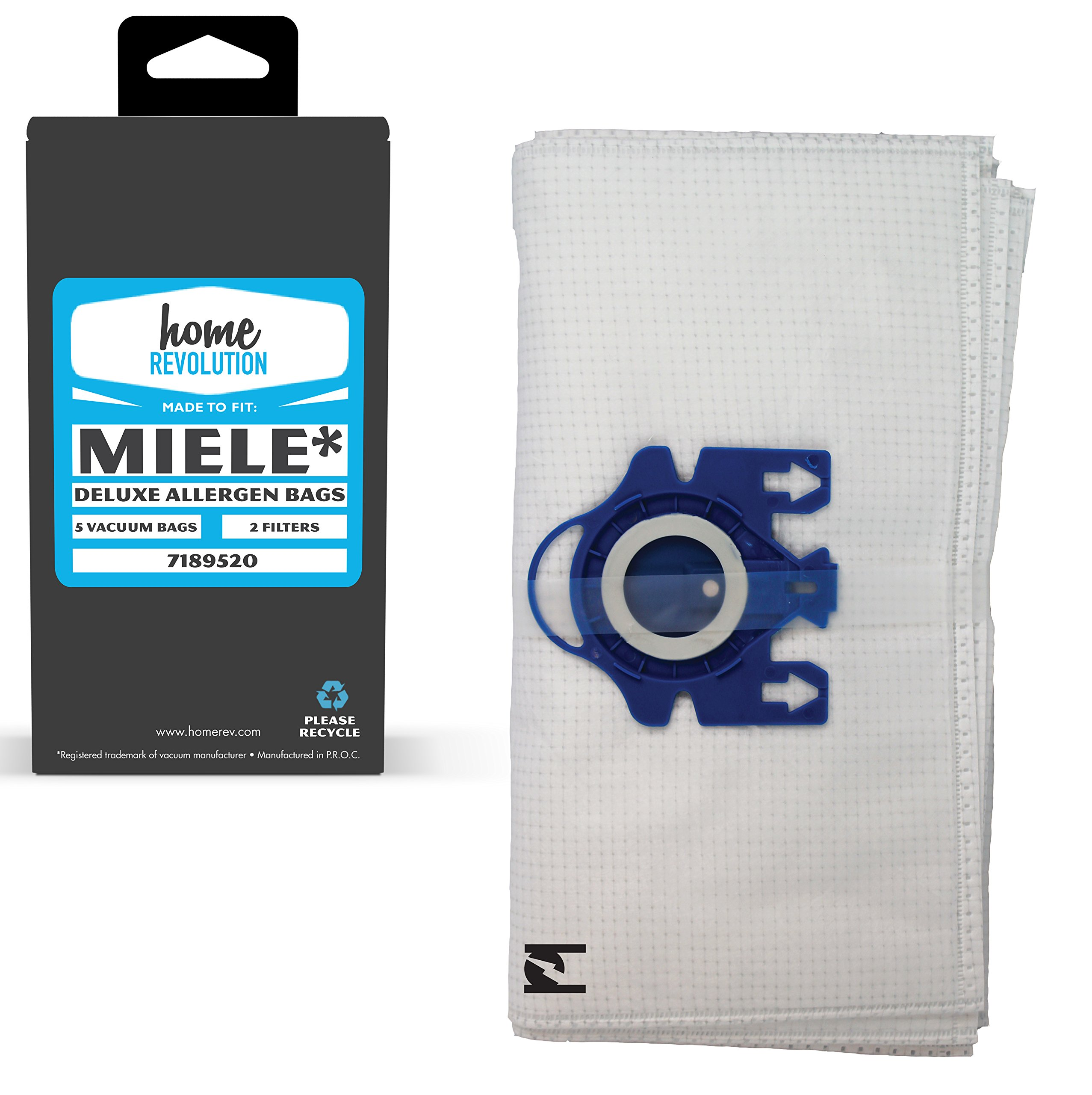 Home Revolution Replacement Vacuum Bags, Fits MIELE GN Deluxe and Parts 7189520