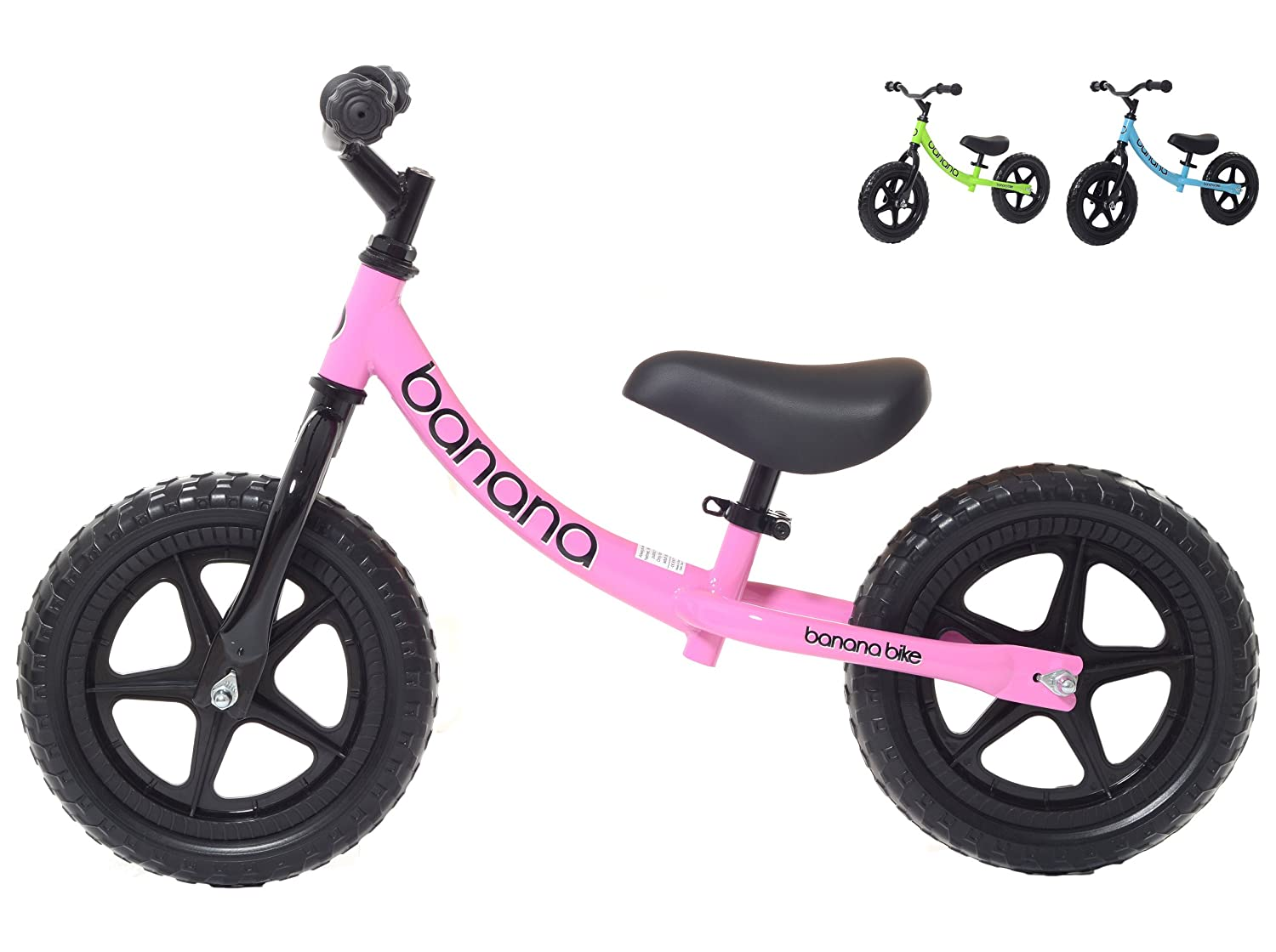 Banana Bike LT - Lightweight Balance Bike for Kids - 2, 3, 4 Year Olds 3 & 4 Year Olds (Blue) BBLT
