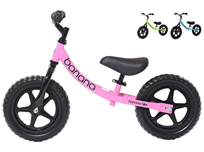 side facing pink banana bike lt balance bikes for toddlers