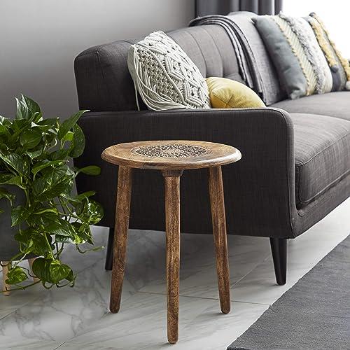 Deco 79 17″ x 22″ Wood Tripod Round Table