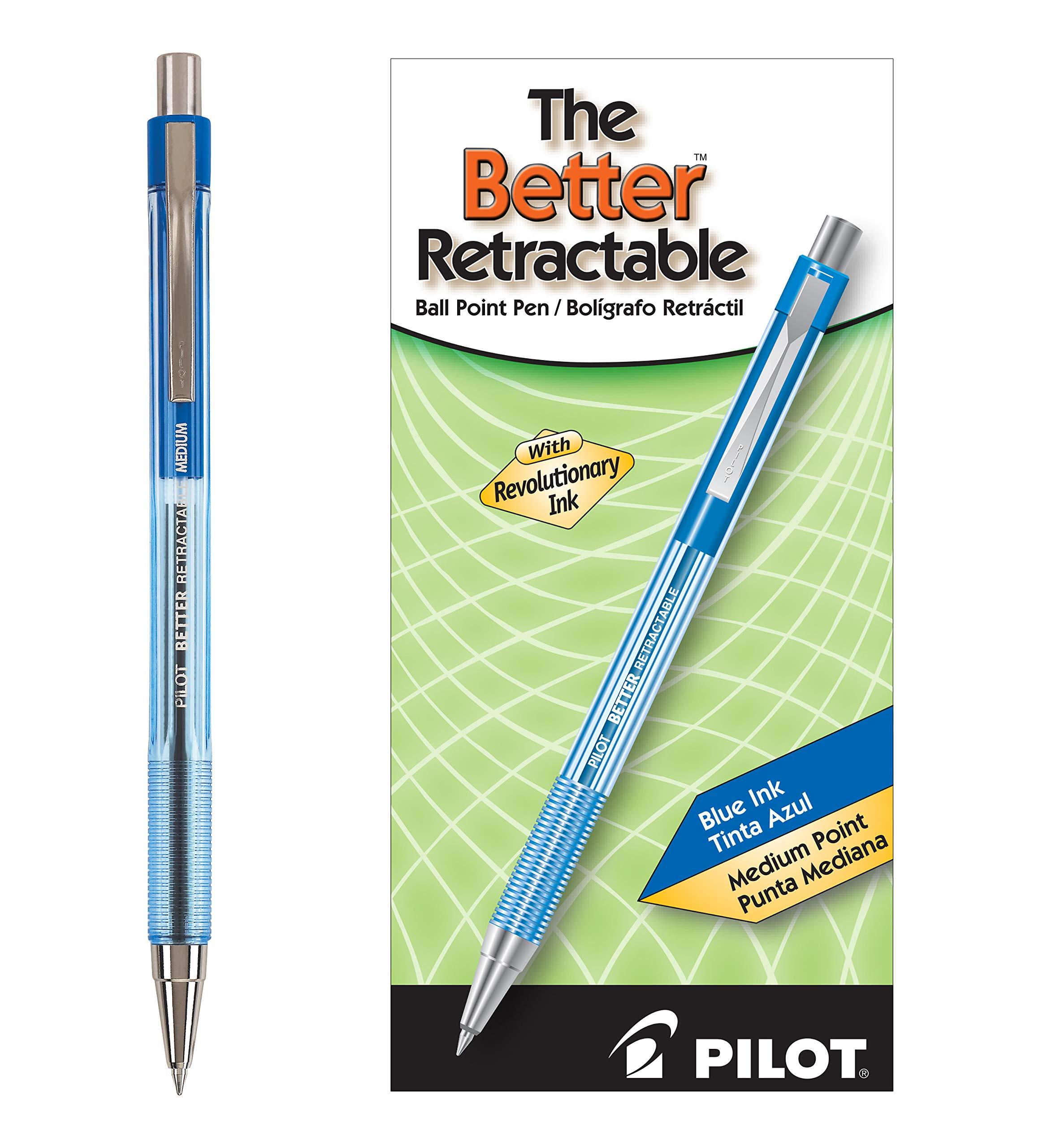 Pilot The Better Bolígrafos retráctiles punta mediana tinta