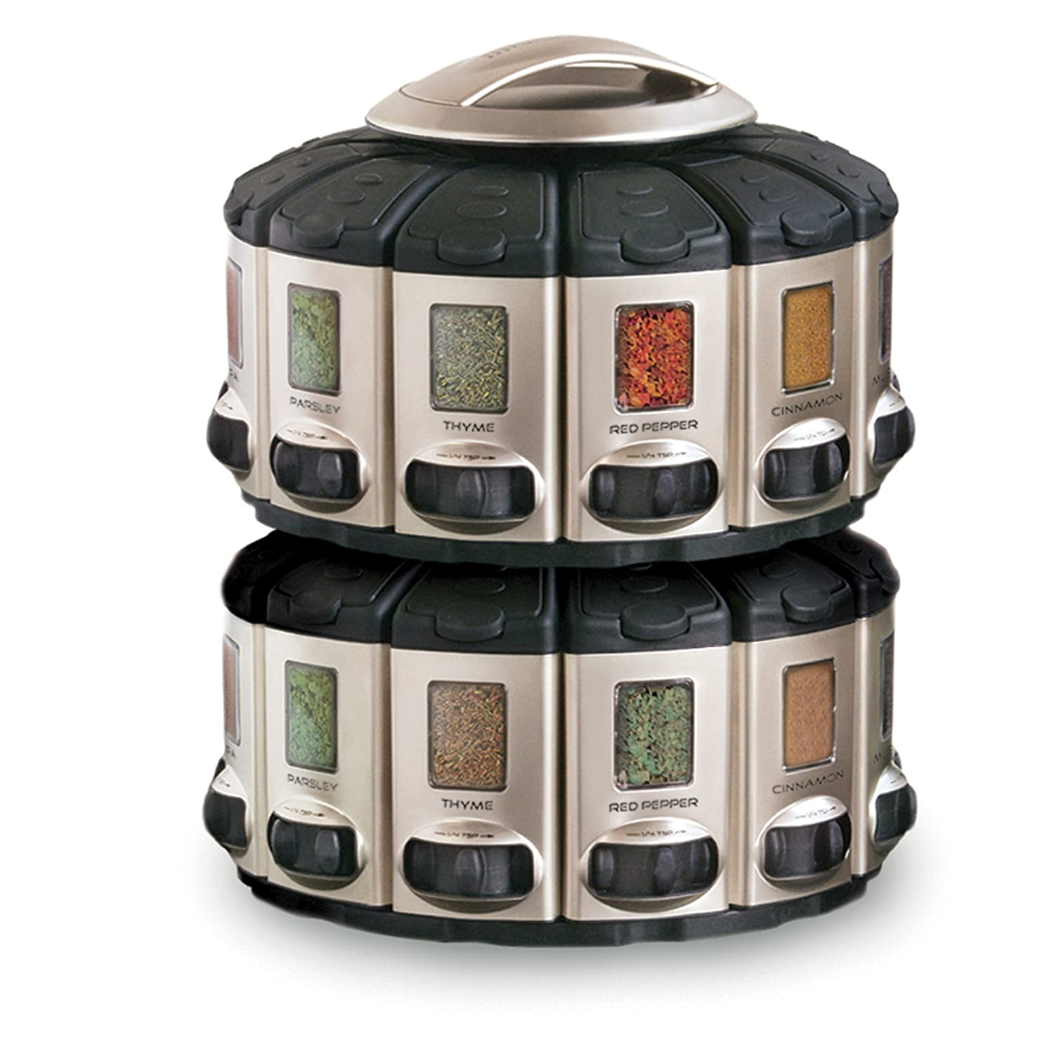 Perfect Amazon.com: KitchenArt 57010 Select A Spice Auto Measure Carousel  Professional Series, Satin: Spice Racks: Kitchen U0026 Dining