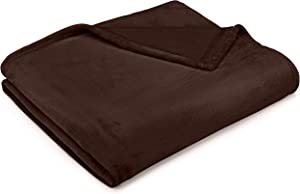 Pinzon Velvet Plush Blanket - Throw, Chocolate