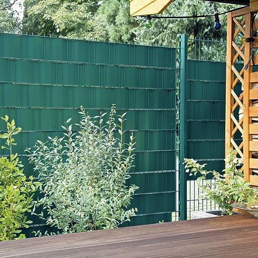 HR Direkt Verkauf GmbH 10 Privacidad Rayas Verde Musgo en Juego – PVC Duro – Visión – Protección Wind – Tiras para cercas – Vallas Valla – Varilla Rejilla Vallas: Amazon.es: Jardín