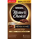 Nescafe Taster's Choice Instant Coffee, French Roast, 0.52 Oz  (Pack of 12)