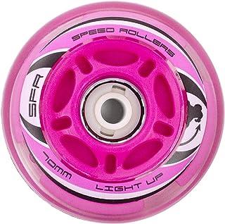 SFR Inline Light Up Wheels Pink 70mm