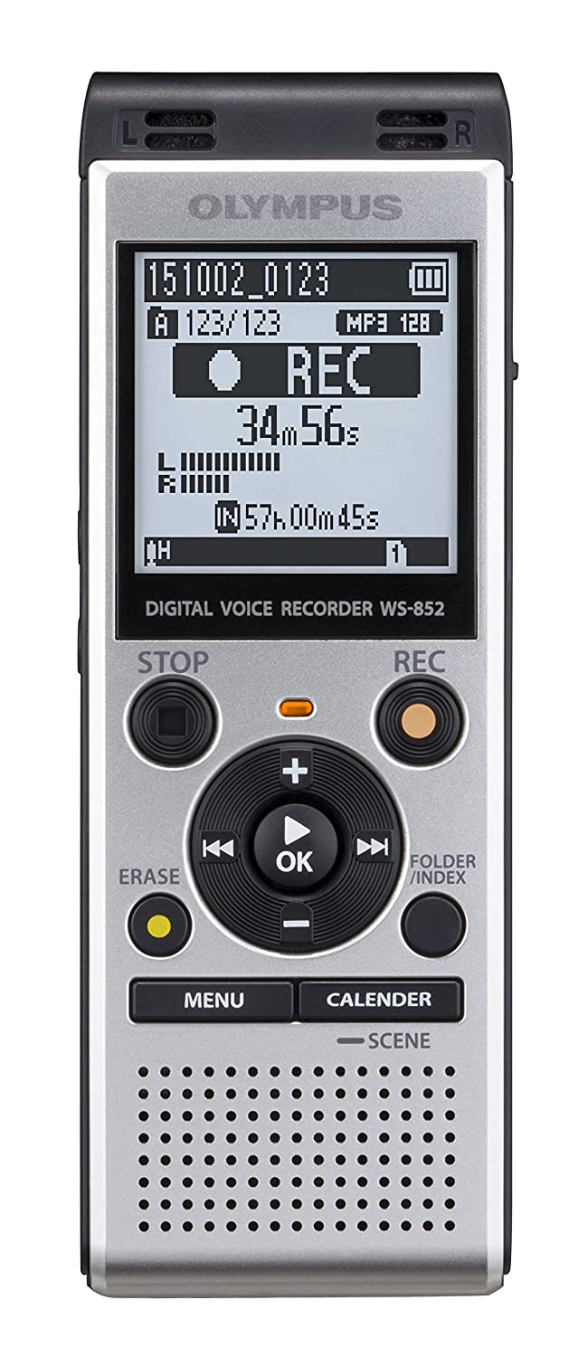 Olympus Digital Voice Recorder Ws 852 Silver Electronics Simple Telephone