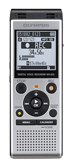 Olympus Digital Voice Recorder WS-852, Silver <span at amazon