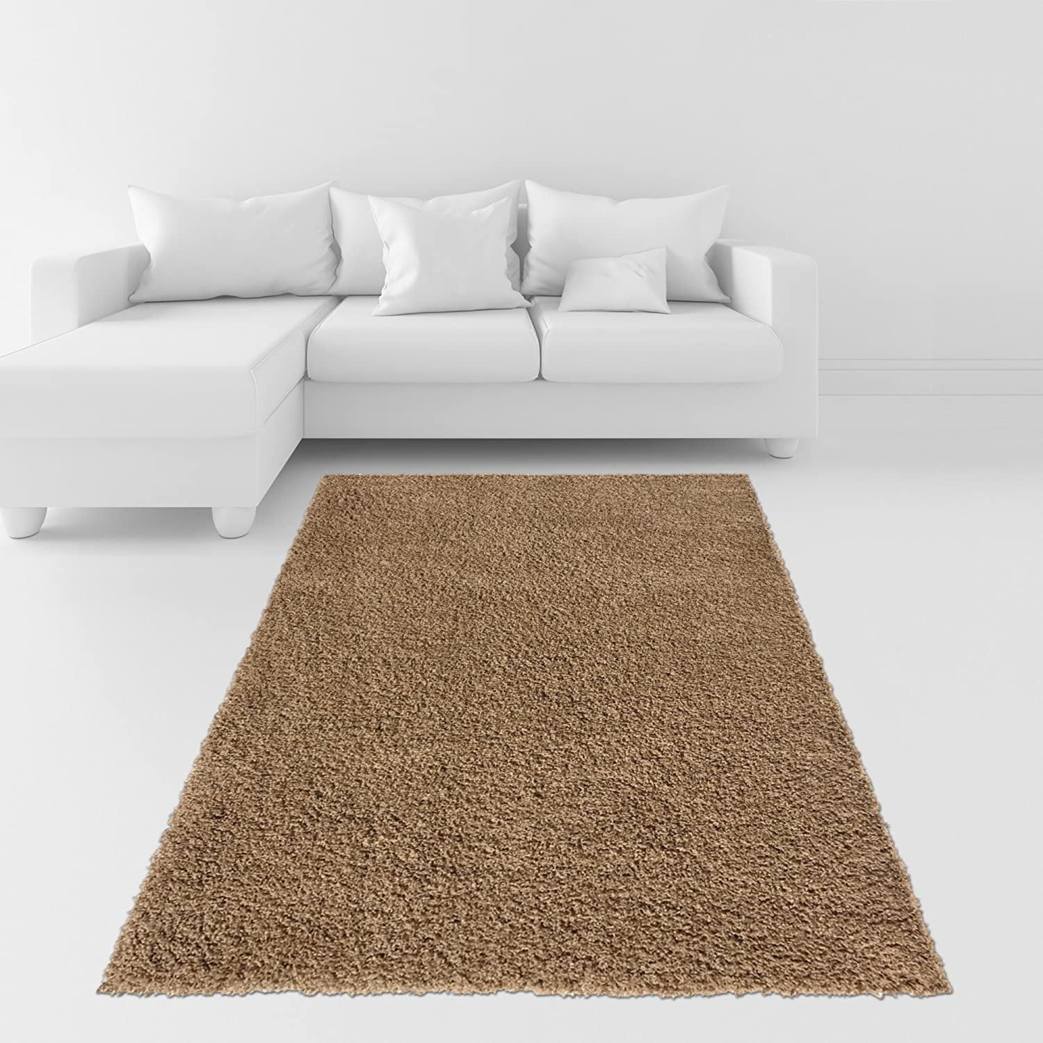 amazoncom soft shag area rug x plain solid color beige  - amazoncom soft shag area rug x plain solid color beige  contemporary arearugs for living room bedroom kitchen decorative modern shaggy rugs kitchen