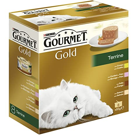 Purina Gourmet Gold - Terrine, 1 Paquete Surtido de 8 x 85 gr - Total