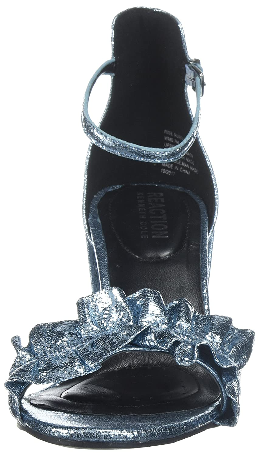 41fc67d5107 Kenneth Cole Reaction Women s Rise Ruffle Strap Open Toe Dress Sandal  Heeled  Buy Online at Low Prices in India - Amazon.in