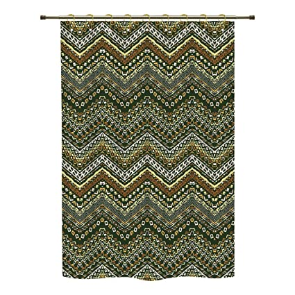 IPrint Shower CurtainZambiaAfrican Style Chevron Pattern With Tribal Elegance Ornament Design
