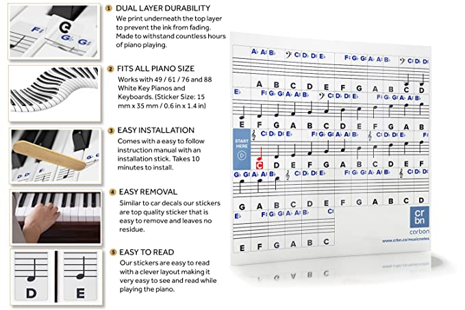 Amazon Piano Stickers For Keys Removable Wdouble Layer