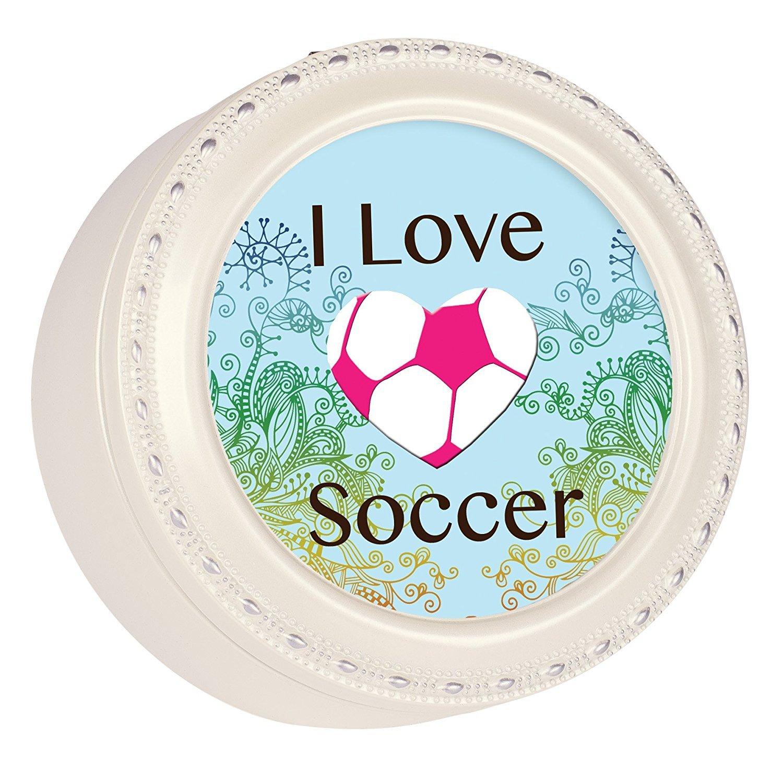 独創的 I Love B01MXLB78Y Wonderful Soccerハートボール光沢アイボリーラウンドジュエリー音楽ボックスPlays Tune Wonderful World Love B01MXLB78Y, ひよこ商店:7896e3ca --- mail.mrplusfm.net