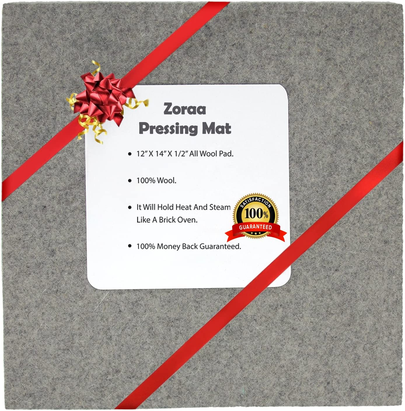 Portable Quilting Heat Press Pad.Portable for Quilting Guilds and Classes! Wool Pressing Mat for Quilting-100/% Wool for Professional Ironing 14 x 14 Wool Ironing Mat