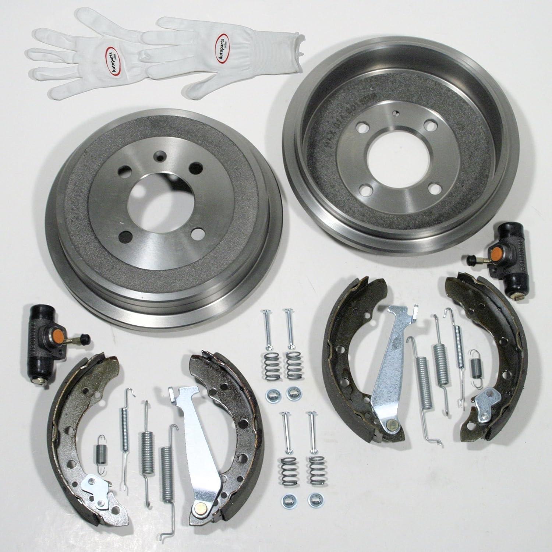 Autoparts-Online Set 60004959 Bremstrommeln Zubeh/ör f/ür Hinten//f/ür die Hinterachse Bremsbacken Radzylinder