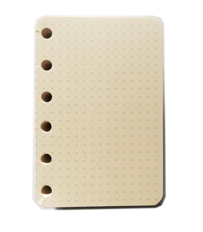 100 Fogli x 4 Colori tipome Ricambio Formato A7 Pocket 8 x 12 cm 400 Fogli in Carta da 90 gr per Agenda con 6 Anelli