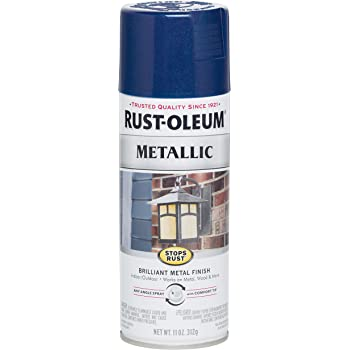 Rust Oleum 7251830 Stops Rust Metallic Spray Paint 11 Oz