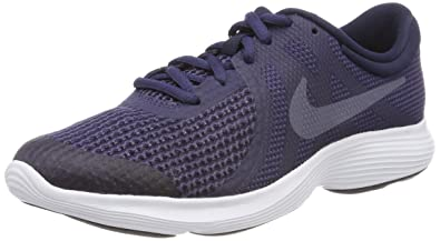 official photos 9ac28 77cc9 Nike Unisex-Erwachsene Revolution 4 (GS) Sneaker, Mehrfarbig (Indigo 001)
