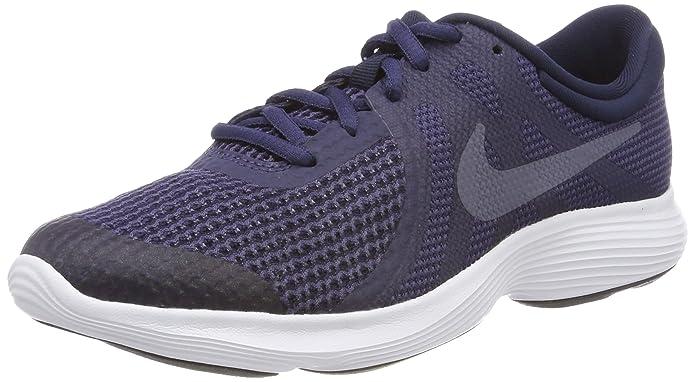 Nike Revolution 4 Damen Herren Unisex Sneaker schwarz (Anthrazit) mit weißem Streifen