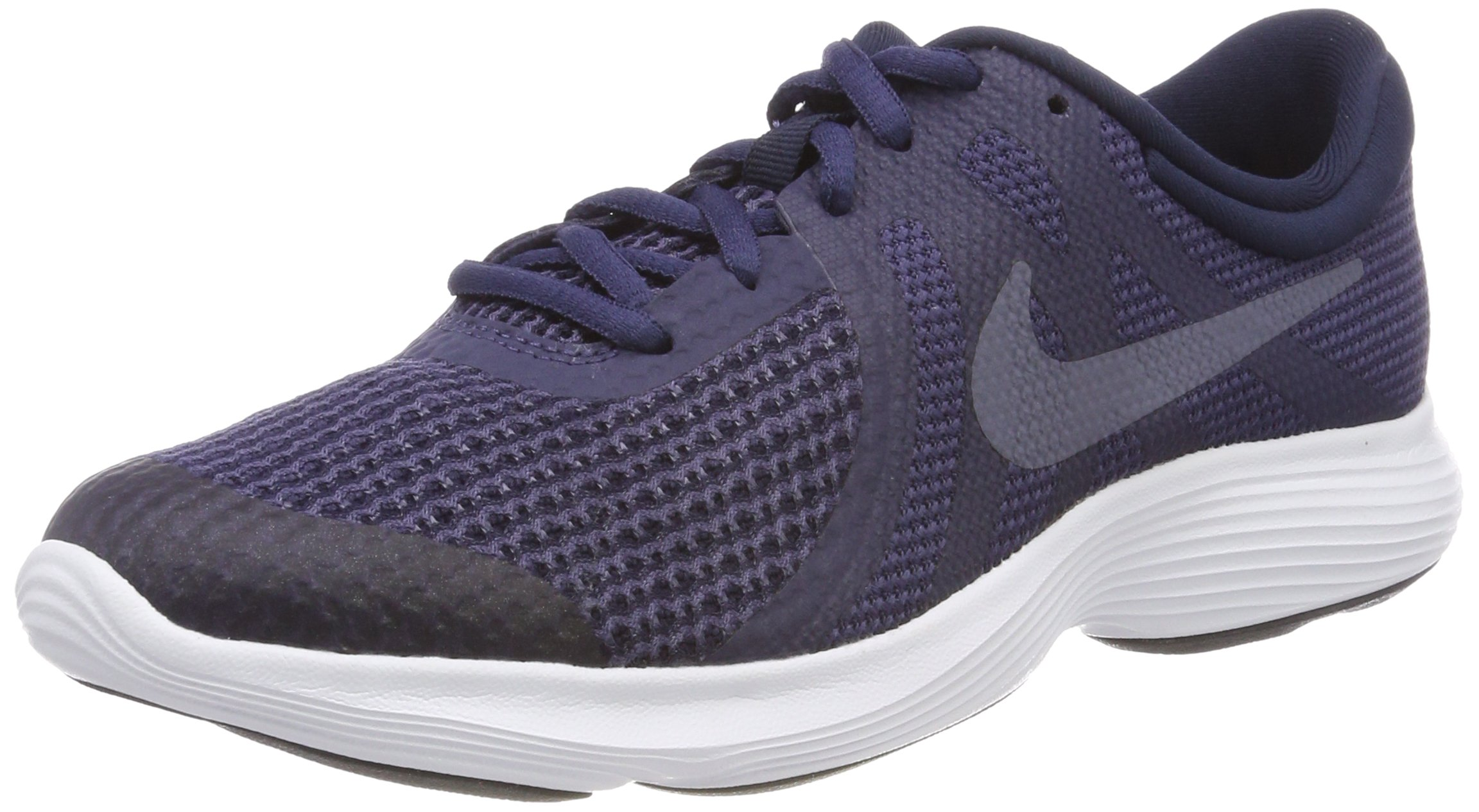 Nike Boys' Revolution 4 (GS) Running Shoe, Black/White-Anthracite, 4.5Y Youth US Big Kid