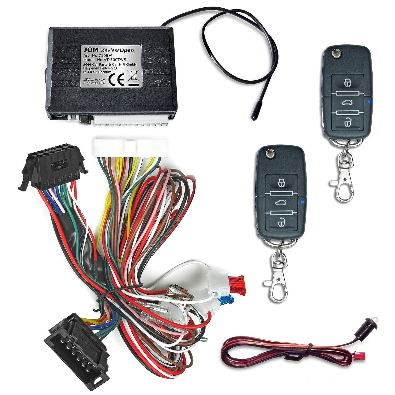 JOM 7105-3 sin llave Open-S con llave plegable, cierre centralizado con mando a distancia, vehículo específico con llave plegable: Amazon.es: Coche y moto