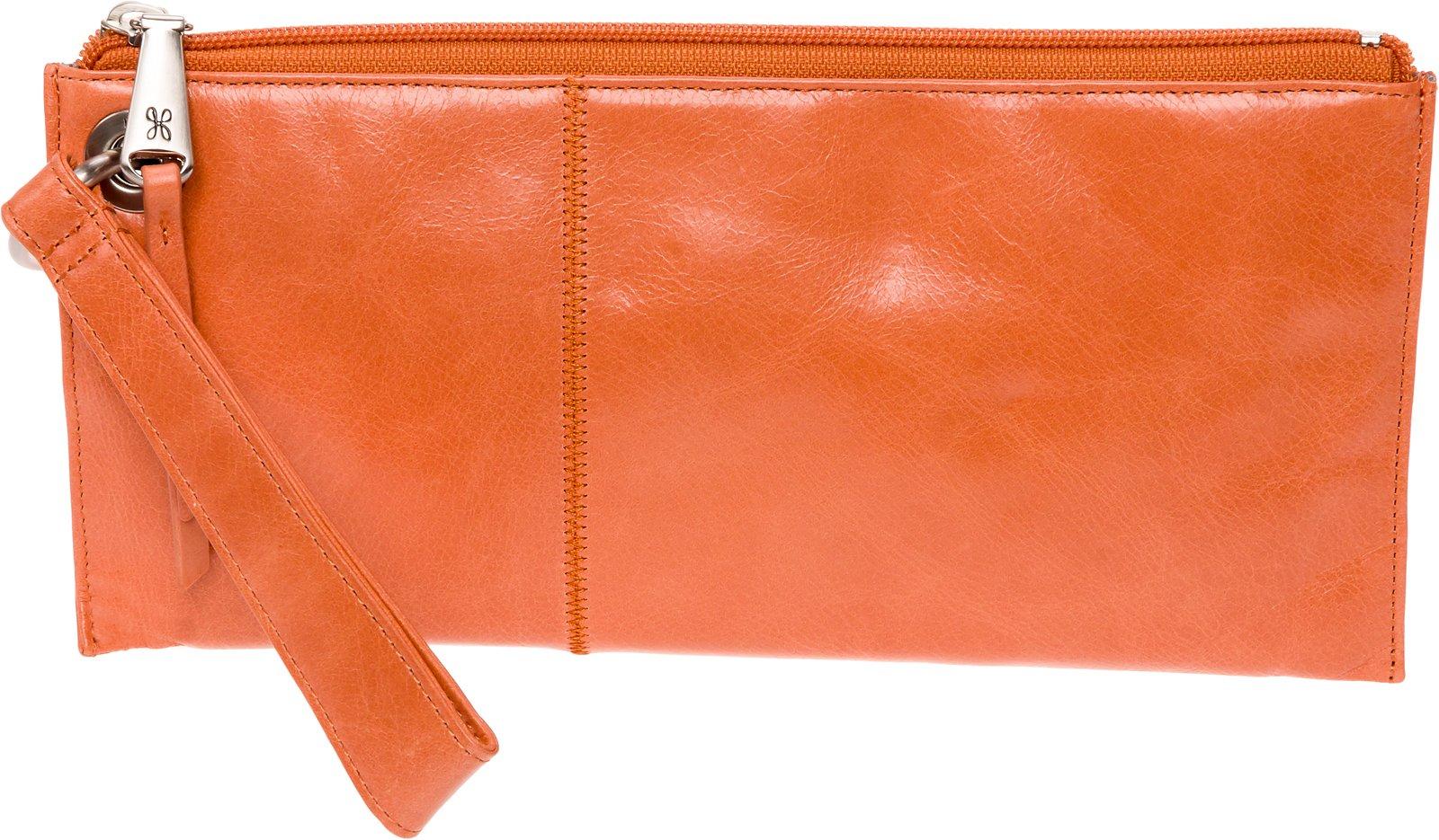 Hobo Womens Leather Vintage Vida Clutch Wallet (Persimmon)