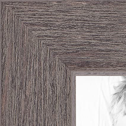 ArtToFrames 22x34 inch Weather Gray Farmhouse Style Wood Picture Frame,  2WOM0066-77900-YGRY-22x34