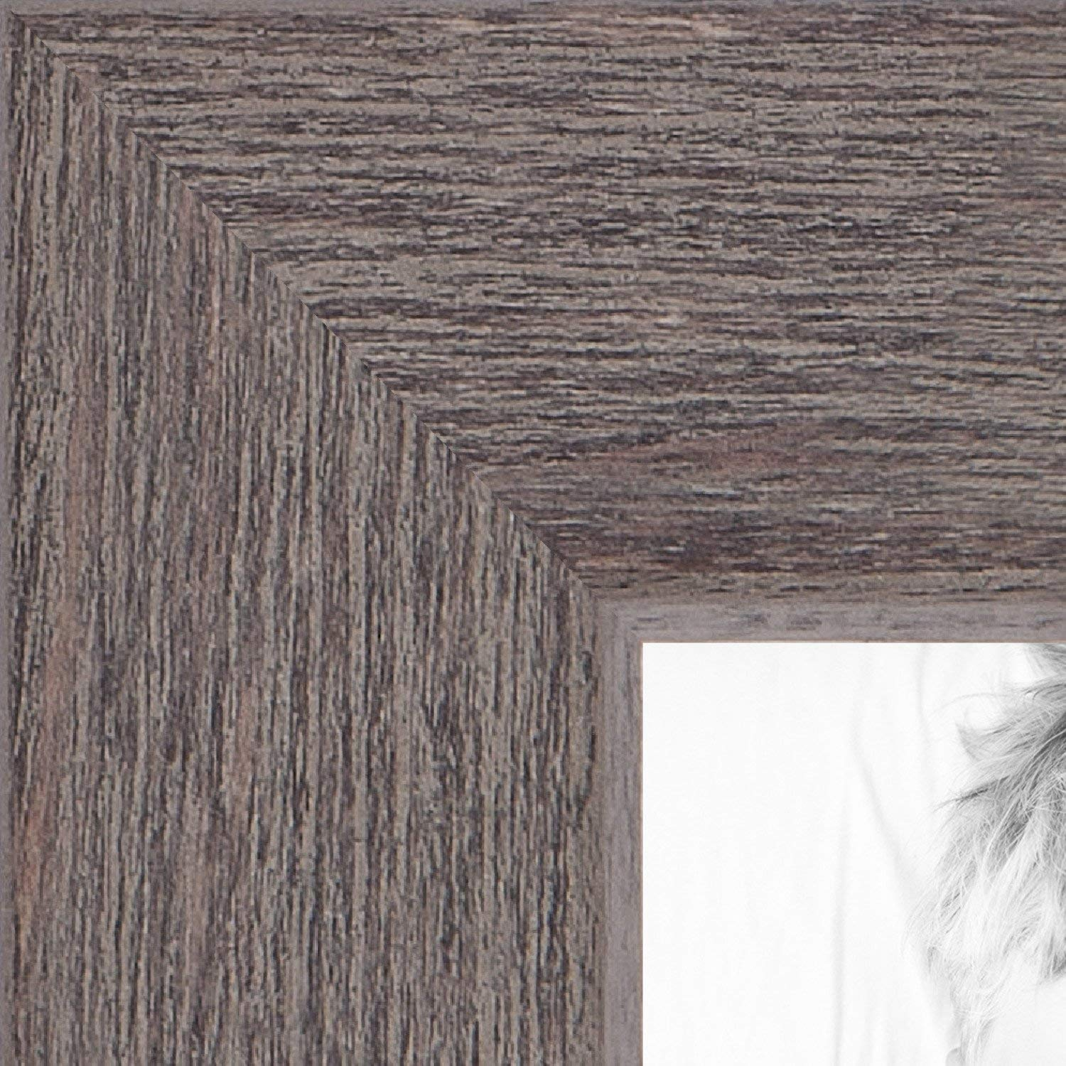 ArtToFrames 14x17 inch Gray Rustic Barnwood Wood Picture Frame, 2WOM0066-77900-YGRY-14x17, 14 x 17'',