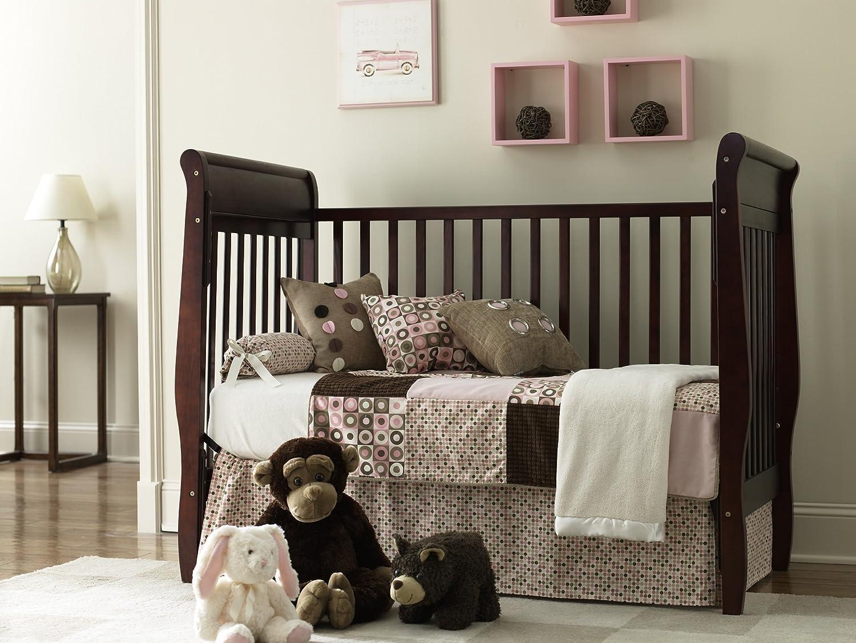 Amazon.com : Graco Sarah Classic 4 in 1 Convertible Crib, Cherry ...