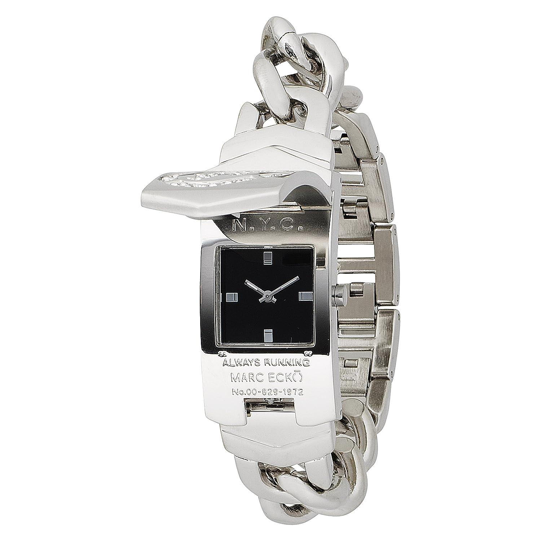 Amazon.com: Marc Ecko Men's 'ID Bracelet' Quartz Stainless Steel Dress Watch,  Color:Silver-Toned (Model: E95002M1): Marc Ecko: Watches