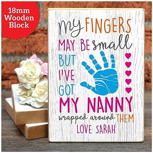 Personalised Gifts My Hand May Be Small Nan Nanny Nana on Mother/'s Day Birthday