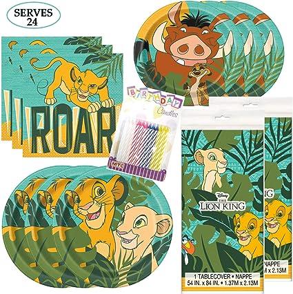 Amazon.com: Paquete de fiesta temática del Rey León ...
