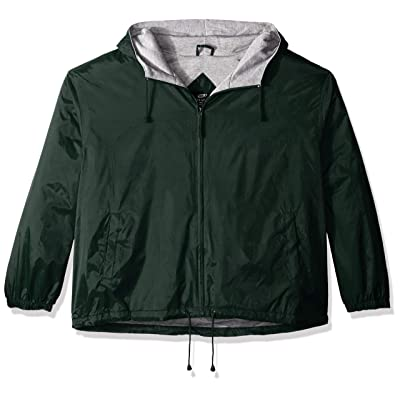 RETOV Men's Fleece-Lined Hooded Jacket, Forest Green, Large at Men's Clothing store