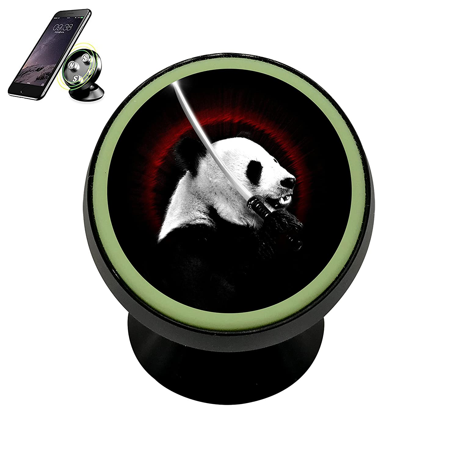 Amazon.com: HACol Ninja Panda Magnetic Phone Car Mount ...