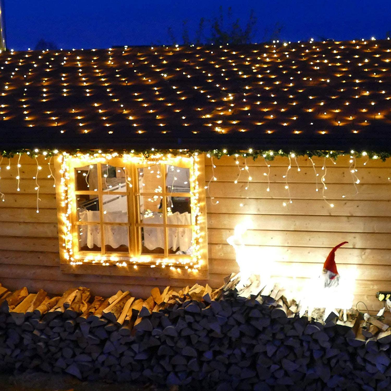 Luci LED rete Ghirlanda di luci illuminazione da giardino 240 LED bianco caldo 3x3m ip44