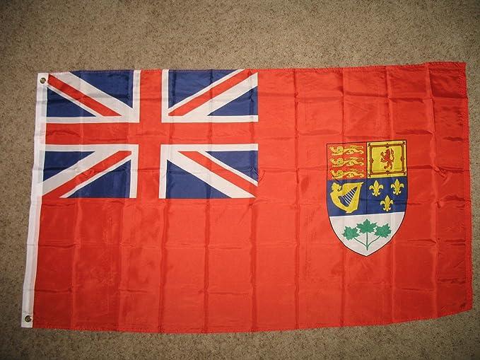 Antiguo Canadá Red Ensign bandera súper poli 3 x 5 pies de bandera ...