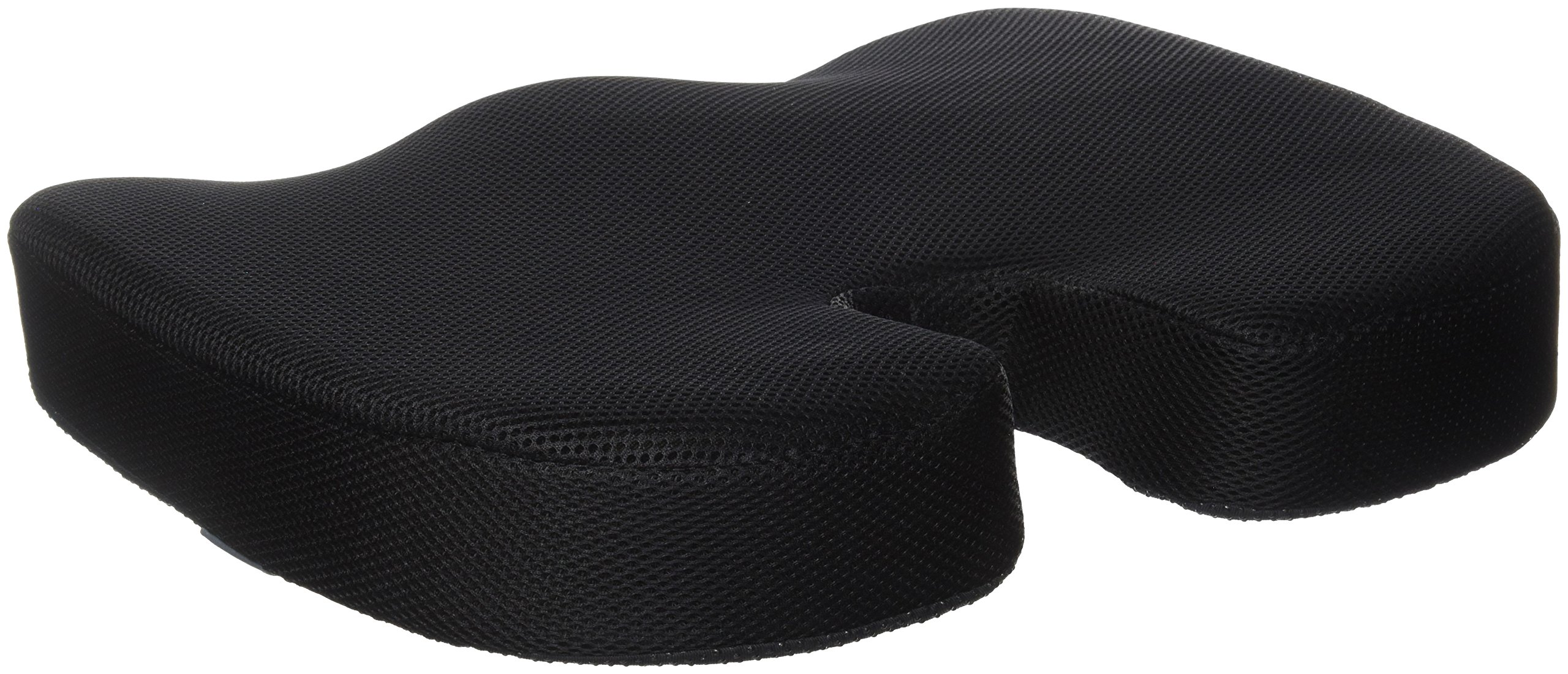 Duro-Med DMI Memory Foam Coccyx Seat Cushion Pillow, Black