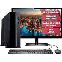 "Computador Completo Slim Intel Pentium 8ª Geração G5420 8GB DDR4 SSD 480GB Monitor 19"" HDMI Skill Premiere"