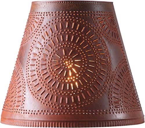 Fireside Shade with Chisel in Rustic Tin